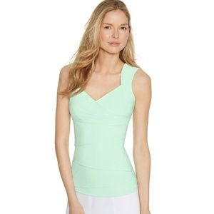 WHBM Mint Sleeveless Seamed Shell Top- Size M